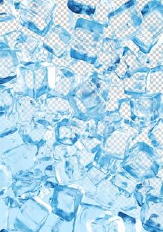 3d рендеринг ледяной коллекции на прозрачном фоне