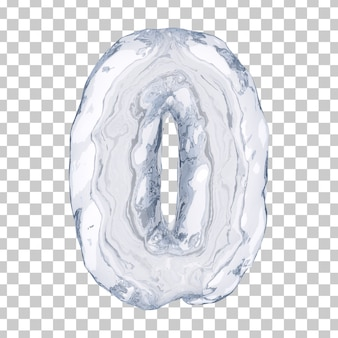 3d rendering of ice number 0