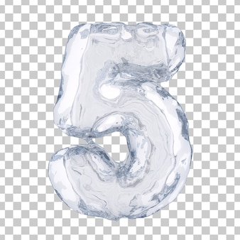 3d rendering of ice number 5