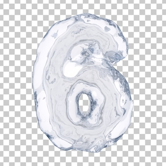 3d rendering of ice number 6