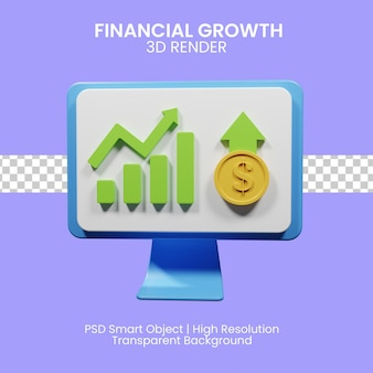 3dレンダリングアイコンの経済的成長