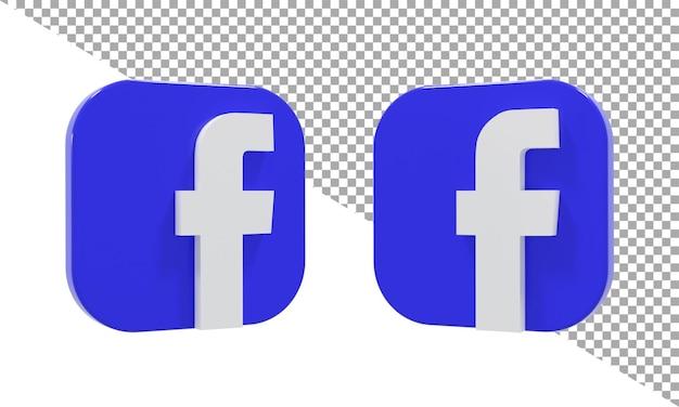 3d рендеринг значок логотип facebook изометрические