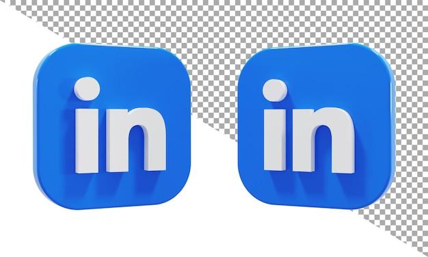 아이소메트릭에 연결된 3d 렌더링 아이콘 로고