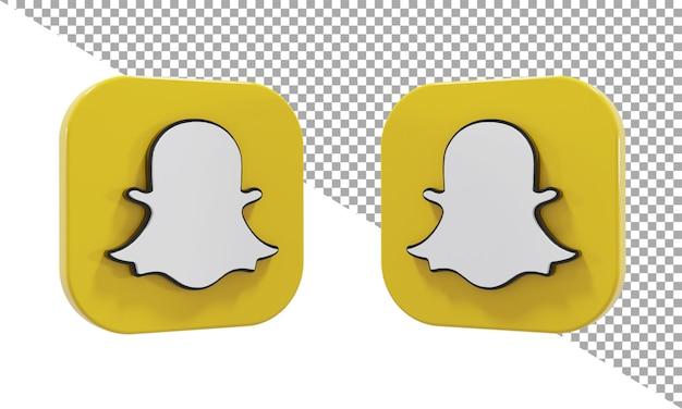 3d 렌더링 아이콘 로고 snapchat 아이소메트릭