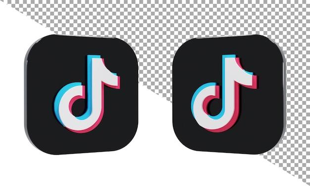 3d 렌더링 아이콘 로고 tiktok 아이소메트릭
