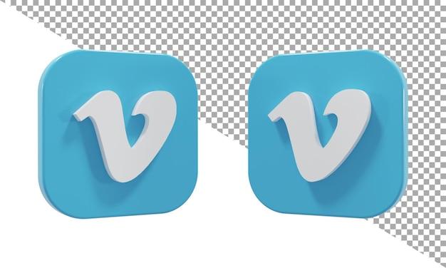 3d 렌더링 아이콘 로고 vimeo 아이소메트릭