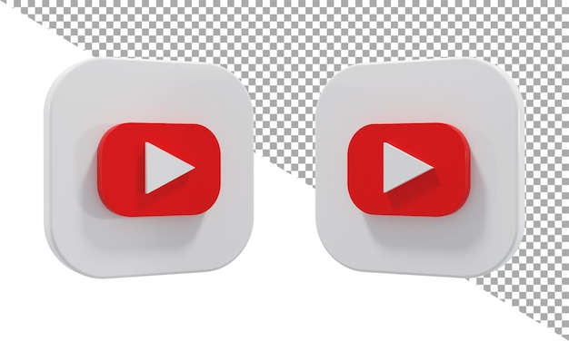 3d 렌더링 아이콘 로고 youtube 아이소메트릭