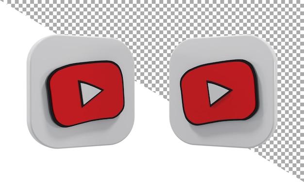 3d 렌더링 아이콘 로고 youtube 키즈 아이소메트릭