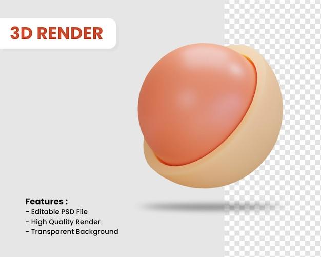 고립 된 구체의 3d 렌더링 아이콘