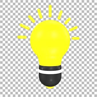 3dレンダリングのアイデアアイコン3dオブジェクト