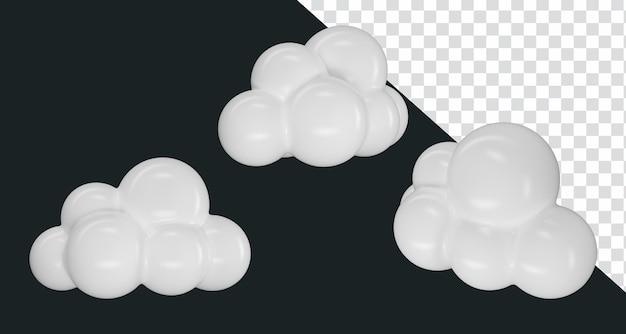 3d 렌더링 그림 아이콘 구름 3x 각도 카메라