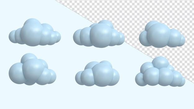 3d визуализация иллюстрации значок облако