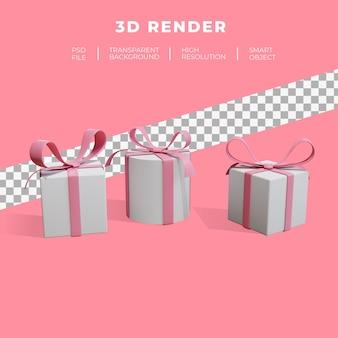 선물 온라인 쇼핑의 3d 렌더링 그림