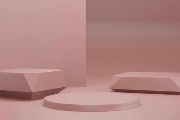 3d rendering illustration stage display background mockup