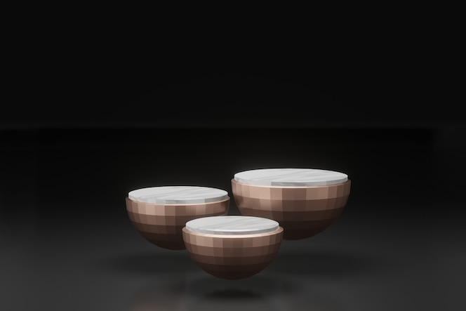 3d 렌더링 그림 무대 디스플레이 배경 모형