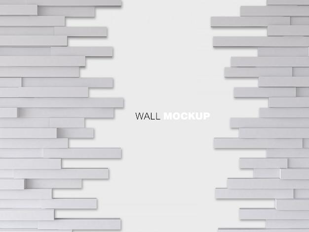 흰 나무 벽의 3d 렌더링 이미지