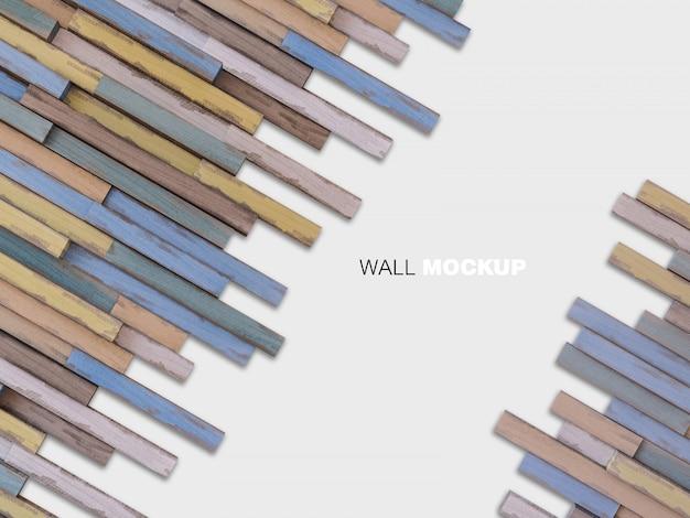 나무 벽의 3d 렌더링 이미지