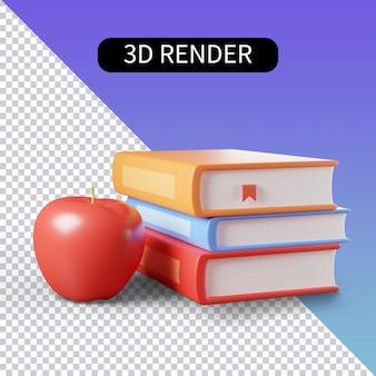 3d-рендеринг изолированные иконки о чтении книг