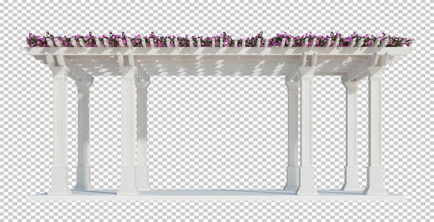 3d rendering of ivy plants isolated
