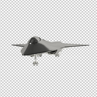 3d rendering of jet plane isolated