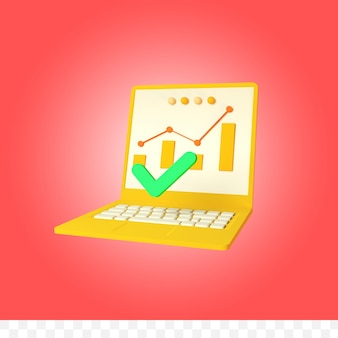 3d рендеринг ноутбука инфографики