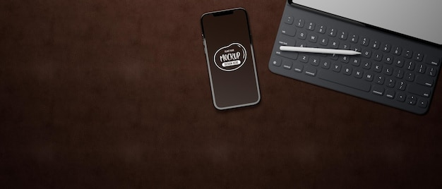 3d rendering of laptop and smartphone mockup