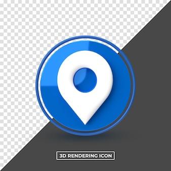 3d rendering location premium psd icon