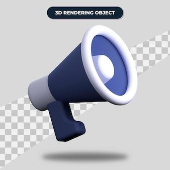 3d rendering megaphone illustration