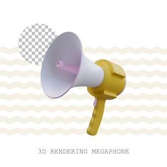 3d rendering megaphone