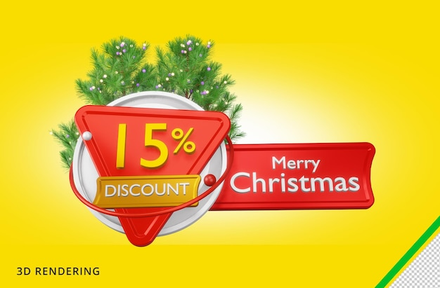 3d рендеринг merry christmas 15 sale premium psd