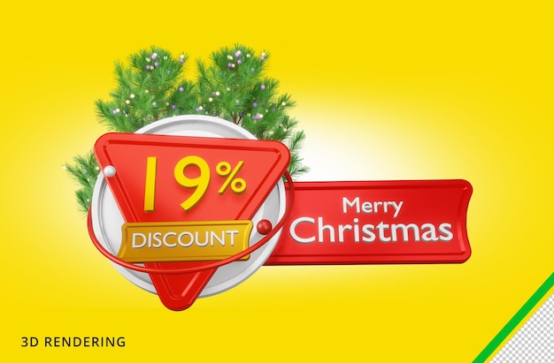 3d рендеринг merry christmas 19 sale premium psd