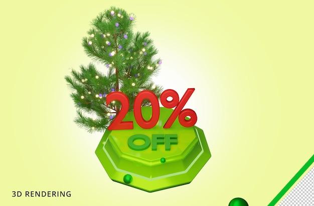 3d рендеринг merry christmas 20 sale premium psd