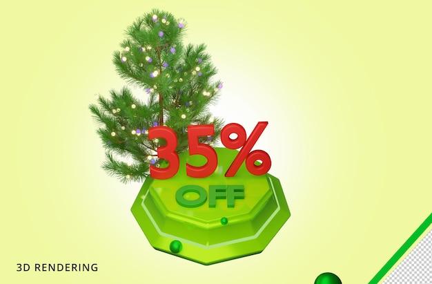 3d рендеринг merry christmas 35 распродажа premium psd