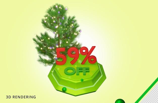 3d рендеринг счастливого рождества 59 распродажа премиум psd