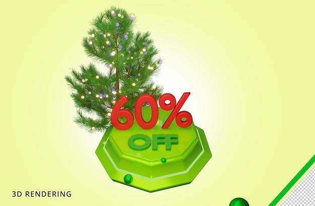 3d рендеринг merry christmas 60 sale premium psd