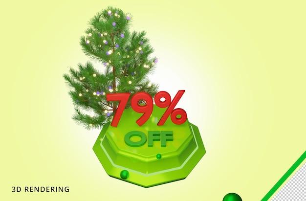 3d рендеринг счастливого рождества 79 распродажа premium psd
