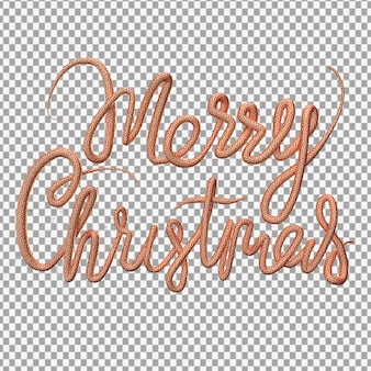 3d rendering of merry christmas lettering