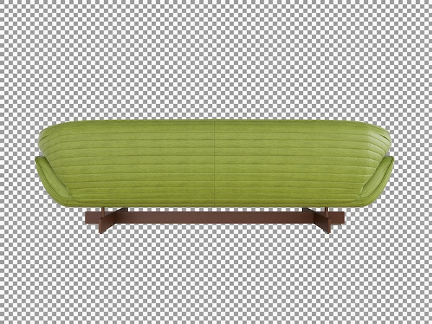 3d rendering of minimalist leather sofa interior isolated