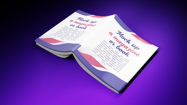 3d rendering for mockup book cover