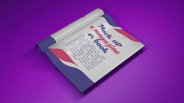 3d rendering for mockup open book