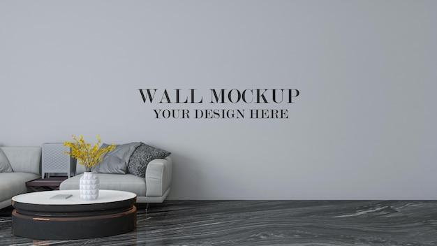 3d рендеринг современного макета внутренней стены