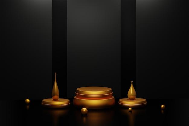 3d-рендеринг современного минималистского подиума или сцены презентации