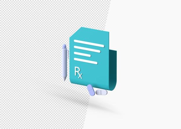 3d rendering modern prescription concept