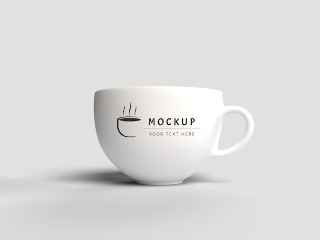 3d rendering mug mockup isolated