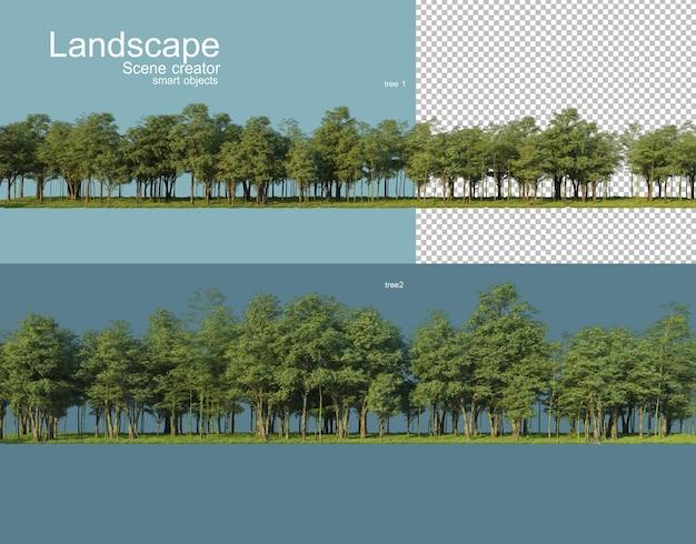 3d rendering of nature scenery rendering Premium Psd