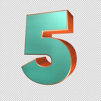 3d rendering of number 5