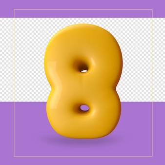 3d rendering of number