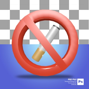 3d rendering object no smoking areaicon