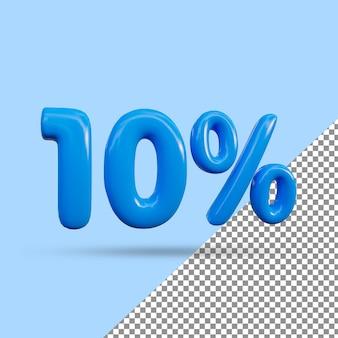 3d-рендеринг с 10-процентным текстовым эффектом