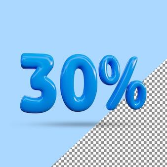 3d-рендеринг с 30-процентным текстовым эффектом